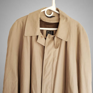 Jos. A Banks 40S Zip Out Liner Trench Coat